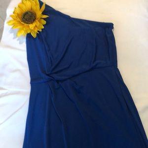BCBG Maxazia long blue dress